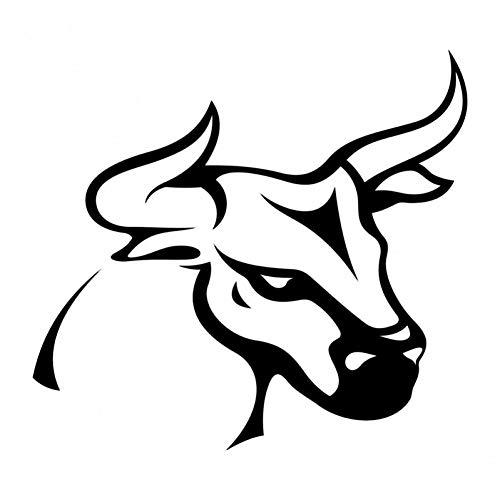 XCWQ autosticker, 10,9 x 10,1 cm, klassieke tattoo, sterren, eenvoudig design, decoratie, vinyl, personaliseerbaar, gestreept Zwart