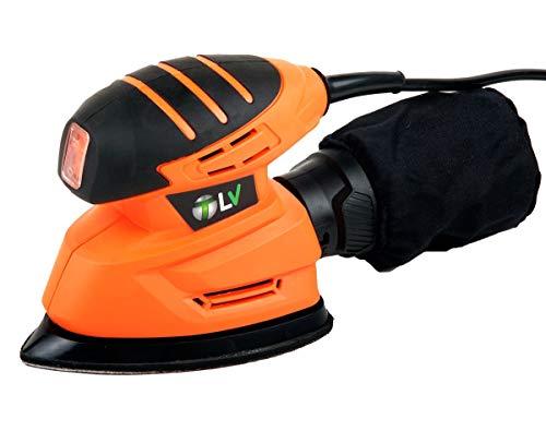 T-LoVendo VPFS Lijadora de Mano Mouse Delta Triangular Electrica 130W, Naranja,...