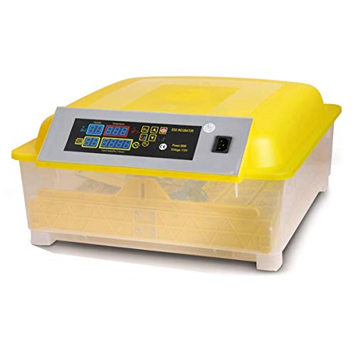 Brutmaschine Vollautomatische 48 Eier Inkubator, Brutgerät Brutkasten Motorbrüter Brutapparate Inkubatoren für Geflügeleier mit Temperaturanzeige und Feuchtigkeitsregulierung