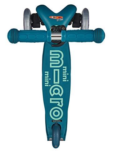 Micro Mini Deluxe, Patinete 3 Ruedas, 2-5 Años, Peso 1,95kg, Carga Máx: 50kg, Altura 48-68cm, Rodamientos ABEC 9 (Azul Hielo)