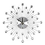 Nachar Reloj de Pared de Cristal-Decoración Moderna de Reloj Mudo de...