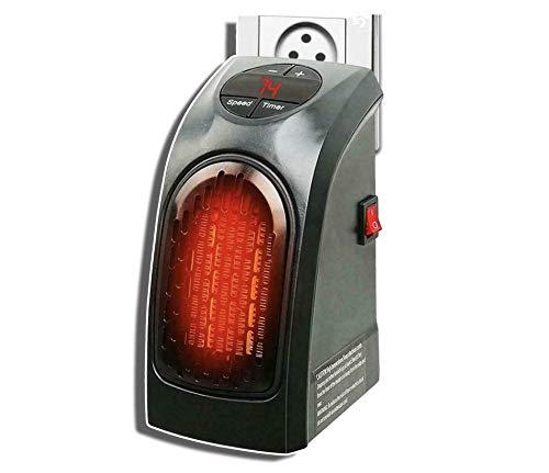 Calentador Eléctrico de Pared Mini Portátil Para Hogar - Calefactor Estufa Eléctrica Calefactor Mini Portátil Handy Heater 350W Bajo Consumo Temperatura Regulable Baño Casa Oficina Enchufe