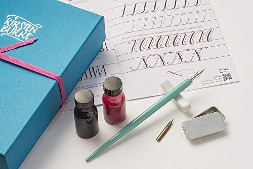 Kit de caligrafía moderno - Kirsten Burke - Set de regalo de caligrafía para principiantes - Niba y tinta