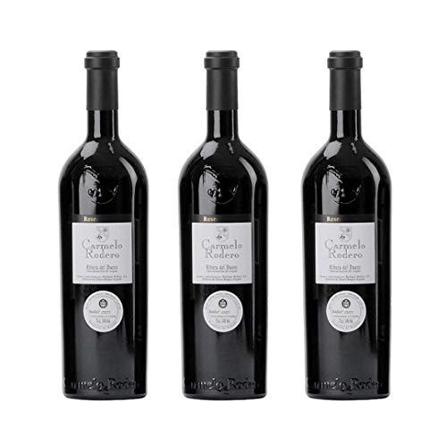 Carmelo rodero Vino tinto reserva - 3 botellas x 750ml - total: 2250 ml