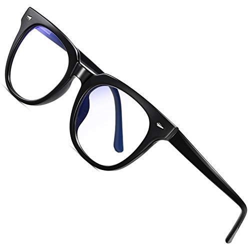 Joopin Gafas Luz Azul para Ordenador Gafas de Protección Anti Fatiga UV para Hombres y Mujeres Lentes con Filtro de Luz Azul Negro 🔥