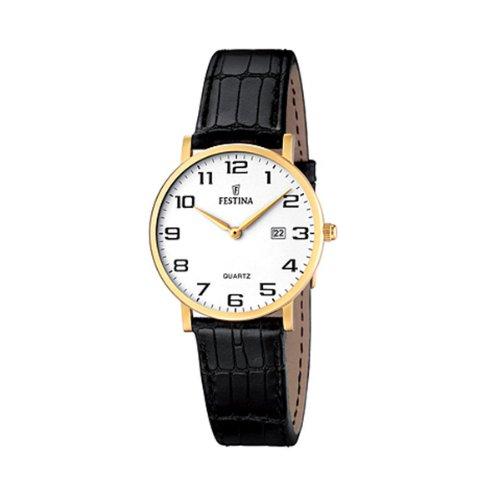 Festina Damen Analog Quarz Uhr mit Leder Armband F16479/1