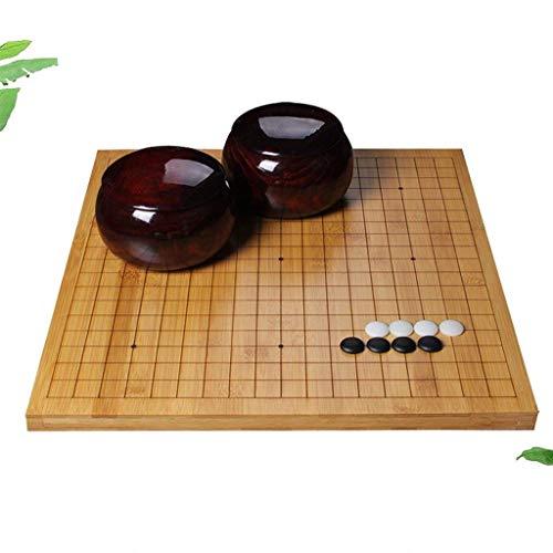 LYQZ Go Set , Bambus Doppelseitiges Schachbrett Go Schachset for...