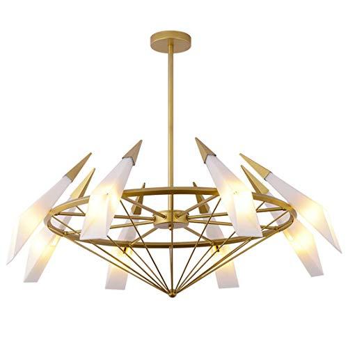 ZHXZHXMY Boutique lighting - De techo moderna Cono luces LED colgante del diseño de la lámpara Cortina de cristal 8 * G9 Bulbos - Cafetería Bar Loft Habitación Sala iluminación de la decoración de la