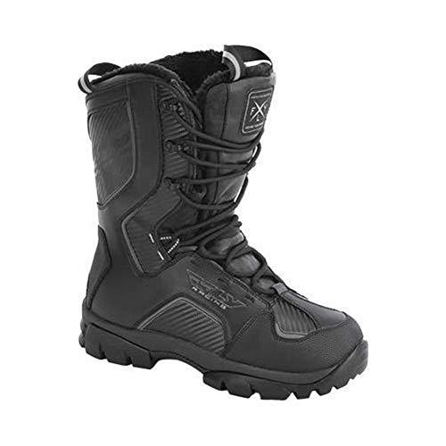 Fly Snow Marker Men's Black Snowmobile Boots - Black / 12