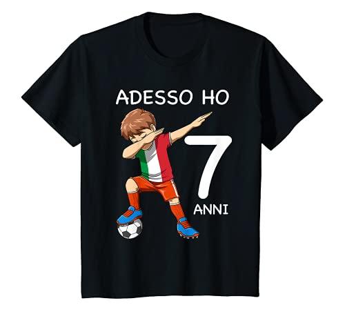 Bambino 7 Compleanno Bambini & Calcio Italia - Regalo Di 7 Anni Maglietta
