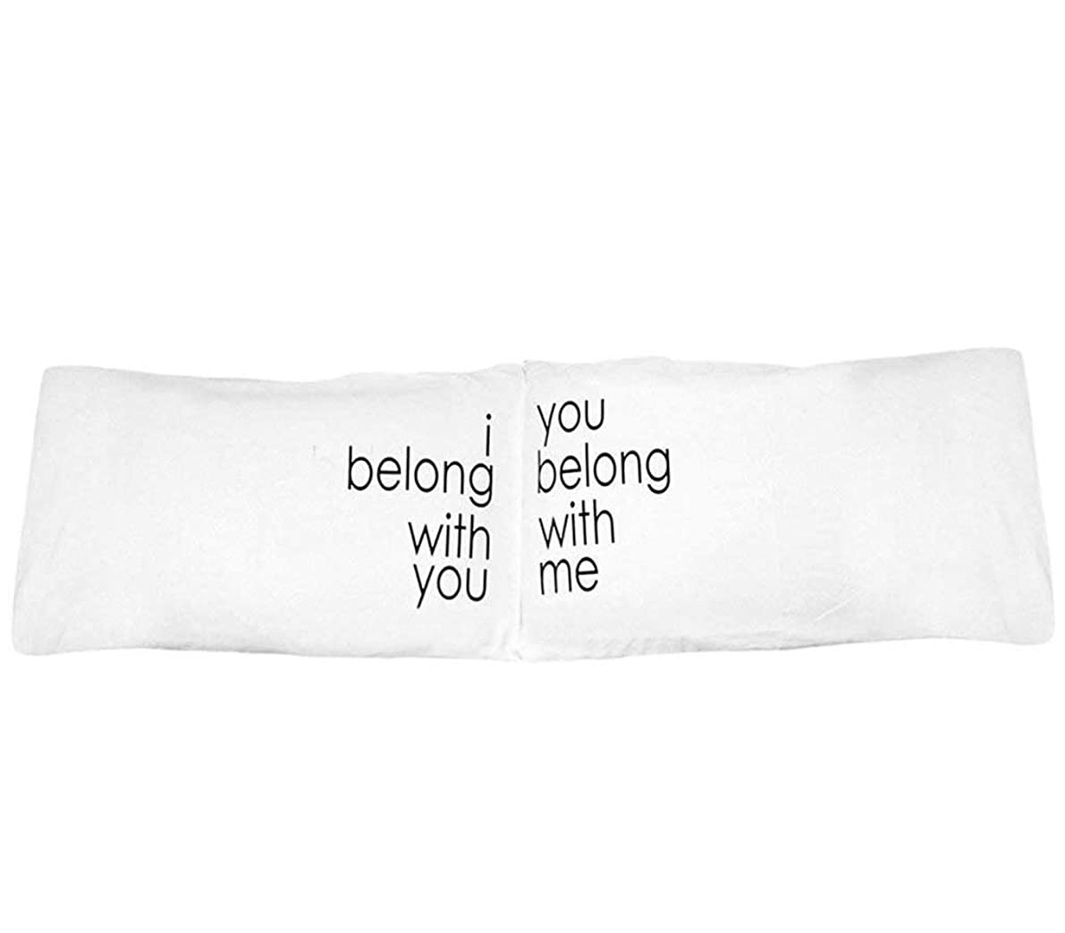 Oh, Susannah I Belong with You, You Belong with Me Couple Pillowcases Wedding Gifts for Couple, Him and Her Gifts (2 20x30 Inch Standard/Queen Pillowcases)