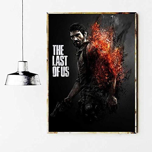 xiangpiaopiao The Last of Us Game Poster Print Wall Art Zombie Survival Horror Action HD Lienzo Pintura Sala De Estar Decoración para El Hogar 50X70Cm (6R-3746)