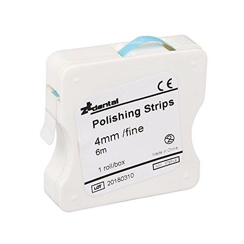 Anself 1Roll/Box Dental Polierstreifen 4mm Harz Zahn interdental Schleifwerkzeug