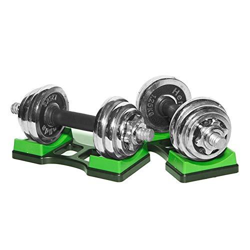 Gorgeousy1 Paar Hantelhalterung, Hantelablage-Rahmenständer, Bodenschutz-Fitness-Trainingsgerät für den Haushalt