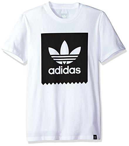 adidas Originals Men's Tops | Blackbird Logo Tee, White/Black, Large
