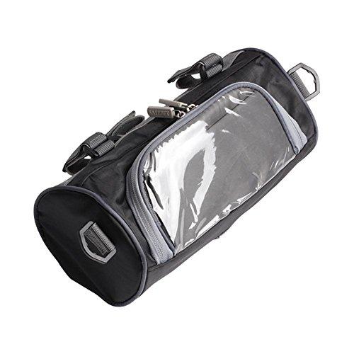 Fancylande opbergtas voor motorfiets, kleine tas met transparante hoes voor stuur, voor motorfiets, motorcross, zwart, waterdicht, opbergtas