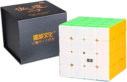 RENFEIYUAN Nuevo AOSU GTS2M GTS2 4x4x4 y V2 4x4 Magnetic Professional Rubik Cubo (Color : Stickerless)