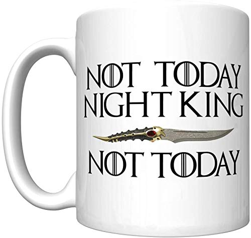 Not Applicable No Hoy Rey de la Noche con la Daga Catspaw (Arya Stark, Juego de Tronos) [D] Taza