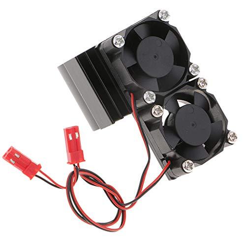 SM SunniMix Moteur Radiateur et Ventilateur de Refroidissement DIY Pièces pour 1/8 1/10 RC Voiture de Contrôle à Distance Buggy - Noir