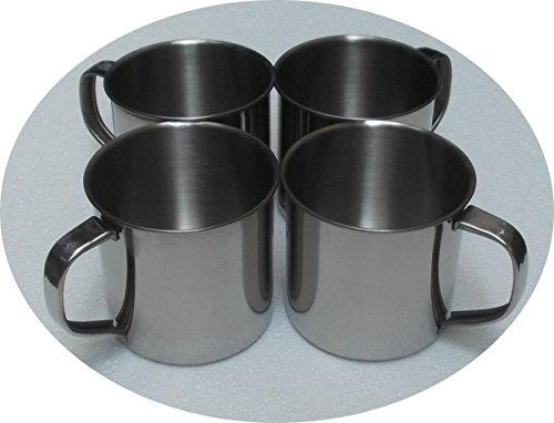 4er Pack Edestahlbecher 500ml Campingbecher Edelstahltasse Kaffeetasse Becher Tasse (EUR 3,75/STK)