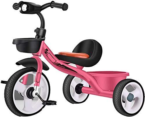 Knoijijuo Marco Triciclos Triciclo Acero De Alto Carbono, Niños Triciclos De Carga De 50 Kg, Niño Niña…