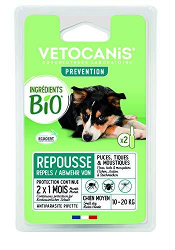 VITALVETO pipeta de Insectos Bio Medio Perro controlada edencert––Juego de 2