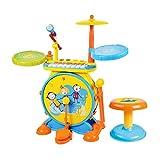 LIUFS Juego de batería para niños, batería de Jazz Musical, Juguetes educativos ilustrativos, batería de percusión, Tocar Piano electrónico de 3 a 5 años de Edad