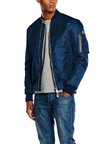 Schott NYC Herren Airforce1 Jacke, Blau (Navy), XX-Large
