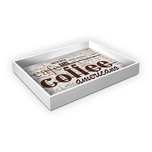 Vassoio da cucina in legno TRAY 30X40 cm COFFEE