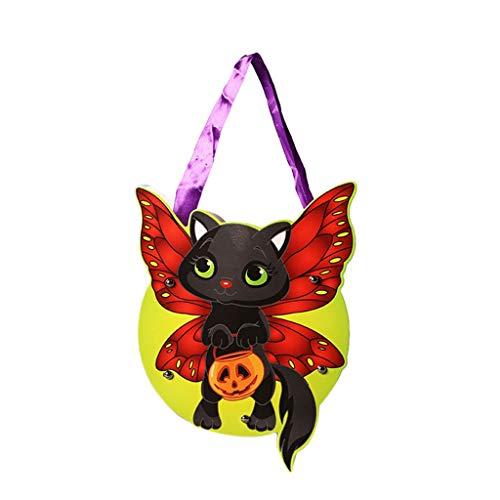 Yue668 - Bolsa de azcar para Halloween DIY, bolsas de caramelos de cartn, calabaza, Halloween o para llevar un cordn de regalo, 15 ~ 22 cm (B)