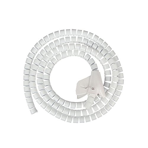 Cable Sleeves,Cubre Cables 5 metros PE Tubo espiral Ocultar alambre Organizador de...