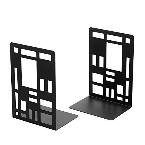 本立て ブックスタンド 本棚用 棚用 重い本用 おしゃれ インテリア 金属製ブックエンド 1組 ブックストッパ(ブラック)