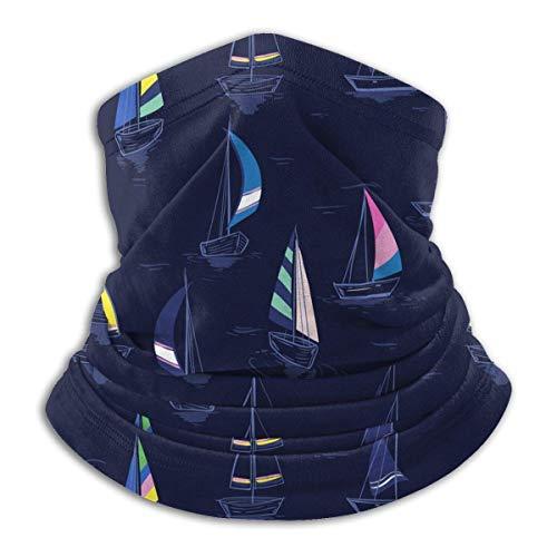 Lawenp veleros (4) patrón de clima frío calentador de orejas bufanda facial para hombres mujeres