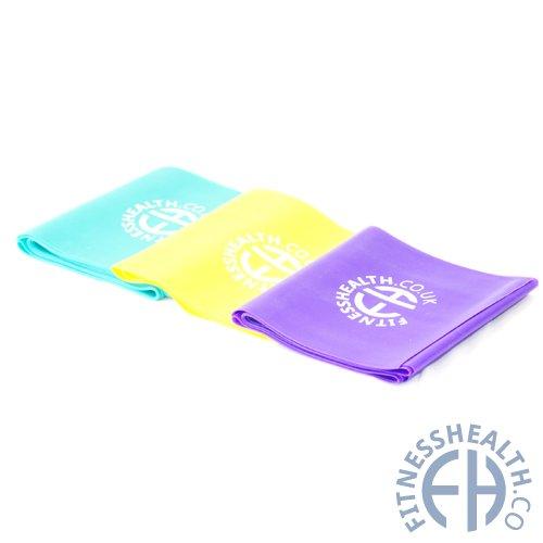 Fitness Health Widerstandsbänder für Yoga / Pilates, 3 Stück (mit unterschiedlicher Stärke)