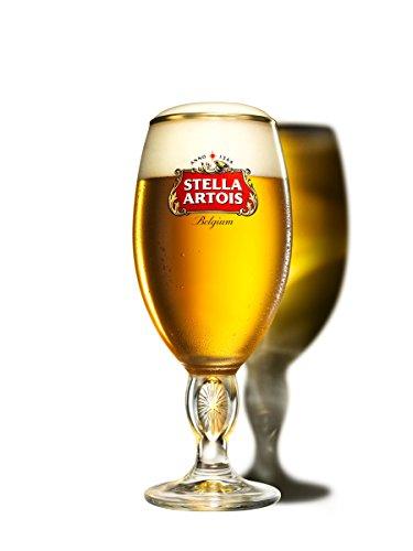 Stella Artois Chalice Glass - Belgium Script - 40cl - 4 Pack