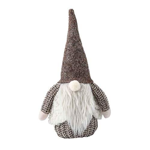 Weihnachtswichteln Art Weihnachten Deko Plüsch Handgemachte Schwedische Wichtel Santa Dolls Kobold Kinder Geschenke,Langes BeinSüße Weihnachten Puppen Figur Schneemann