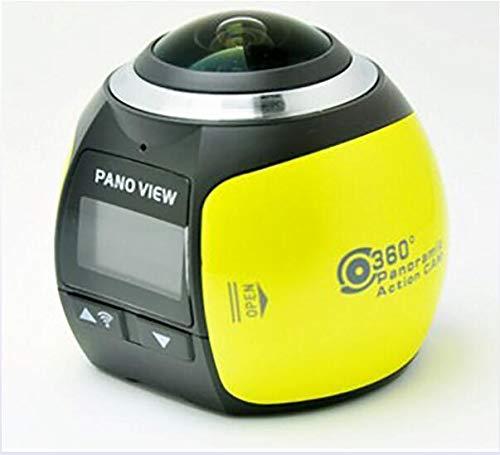 360 Degree Panoramic Camera Underwater Camera 0.96 Inch High Definition Display WiFi Waterproof Mini 4K Outdoor Sports Camera,Yellow