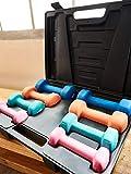 Aerobic Kurzhantel-Set bis 10 kg mit Koffer