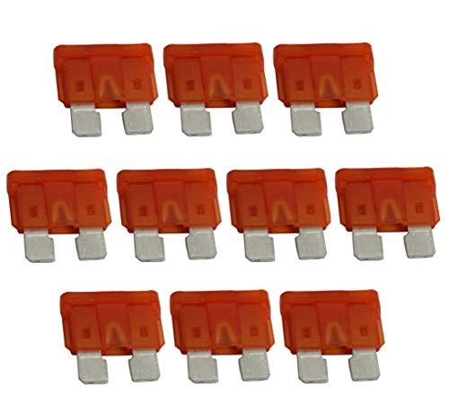 Aerzetix platte zekering, oranje, MIDI, 40 A, 6 V, 12 V, 24 V, 32 V, 19 mm, voor auto, vrachtwagen, bedrijfsvoertuig, 10 stuks