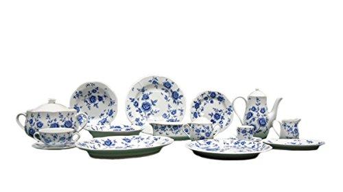 FranquiHOgar VAJILLA Modelo Carlotta 83 Piezas - Porcelana