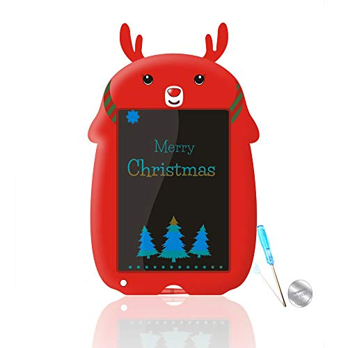 mom&myaboys Colorful Drawing Tablet for Kids Birthday Gift for Teenage Girls,Kids Toy 8.5 in Colorful Writings Pads Kids� Drawing Board Gifts for Kids Office Blackboard with Erase Button Lock(Red LC)