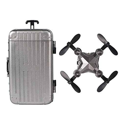 LightClouds DH-120 Mini Drone with Camera for Adults and Kids,Suitcase UAV Folding Quadcopter HD Aerial Remote Control Airplane Drone Children's Toy
