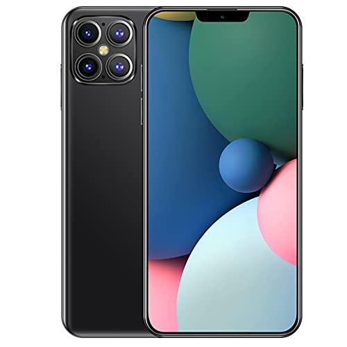 Teléfono móvil, teléfono inteligente Pantalla HD de gota de agua de 6.6 pulgadas, teléfono celular con función de reconocimiento facial, cámara trasera cuádruple Teléfonos Android con doble SIM