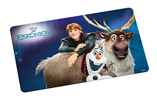 Disney Frozen Brettchen, Olaf & Sven Frühstücksbrett, Melamin, mehrfarbig, 23,5 x 14 x 0.5 cm