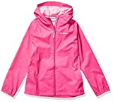 Columbia Girls' Big Switchback II Waterproof Jacket, Pink Ice, X-Large