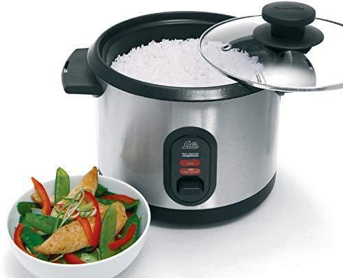 Solis 2 in 1 Reiskocher, zum Kochen von Reis und zum Dämpfen von Gemüse, Fisch und Fleisch, gleichmäßige Wärmeverteilung, Steuersensor mit Tonsignal (Typ 816)