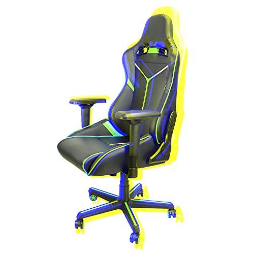 Gaming-Stuhl, Bürostuhl, Schreibtischstuhl, Drehstuhl, ergonomisches Design mit Lendenwirbelstütze und Verstellbarer Rückenlehne