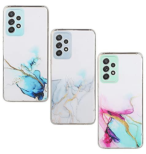 Amlope Funda para Samsung Galaxy A32 5G, TPU Estuche Delgado para teléfono Celular con Patrón Dulce Funda Protectora de Silicona mármol a Prueba de Golpes Estuche Caso Flexible