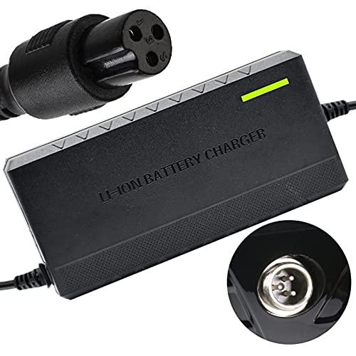 joyvio Adaptador de Corriente UL 42V 2A Conector en línea Powerfast de 3 Clavijas para 36V Pocket Mod,Dirt Quad y Sports Mod More,Cargador de batería de Litio