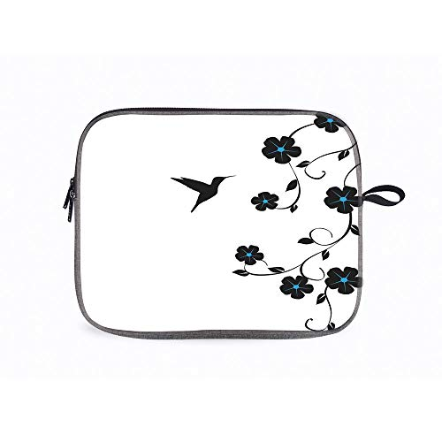 Hummingbirds ations Floral Simple 14 Inch Laptop Messenger Bag Compatible with Fujitsu, Lenovo, HP,